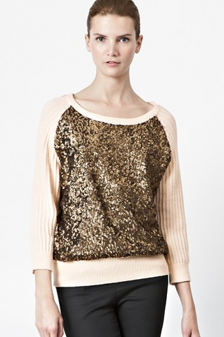 Sour Sequin Knitted Jumper