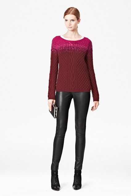 Ombre Cable Knitted Jumper