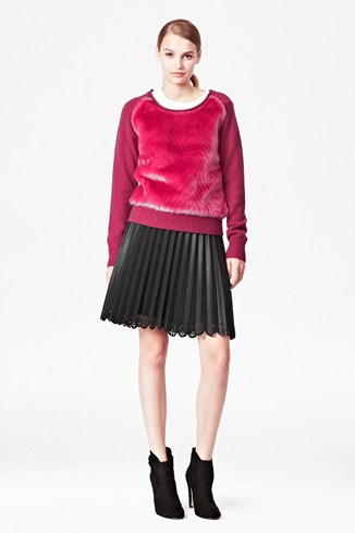 Faux Fur Knitted Jumper