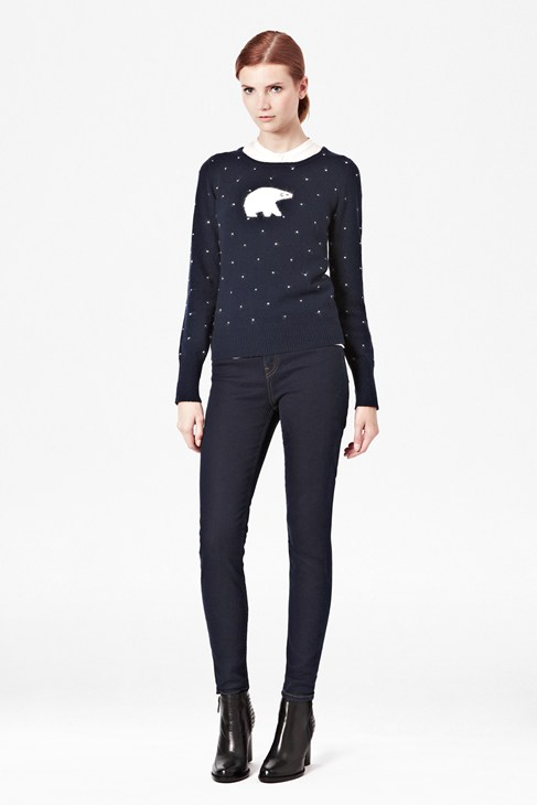 Polar Knitted Angora-Blend Jumper
