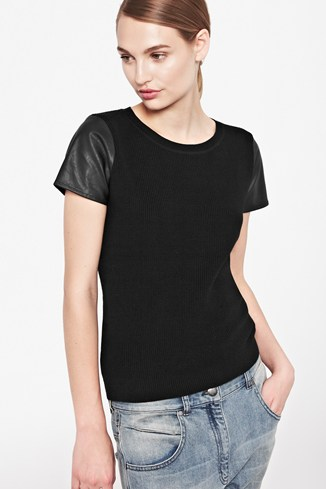 London Textured Sleeves Jumper