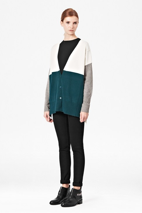 Vhari Colour Block Cardigan