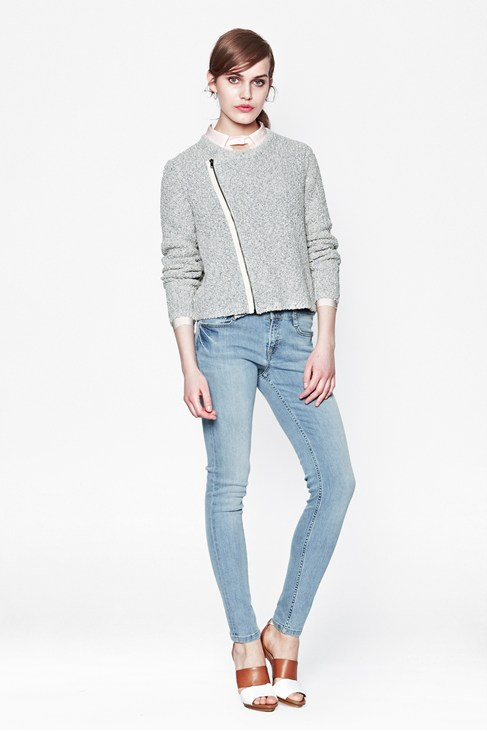 Audrey Zipped Cardigan