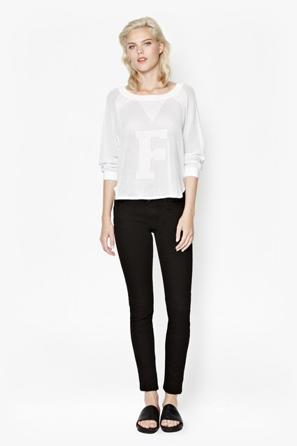 F Pointelle Scoop Jumper