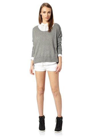 Vhari Knitted Slash Jumper