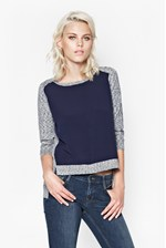 Looks Great With Odette Melange Block Jumper