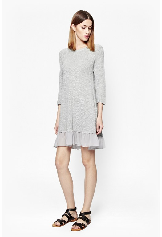 Moss Glitter Frill Tunic Dress