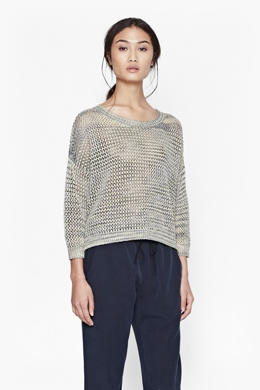 Complete the Look Shimmer Mesh Knitted Jumper