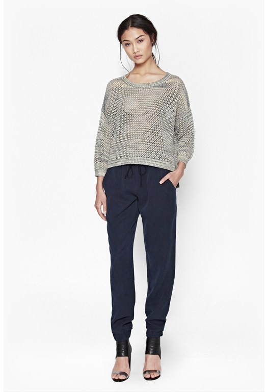 Shimmer Mesh Knitted Jumper