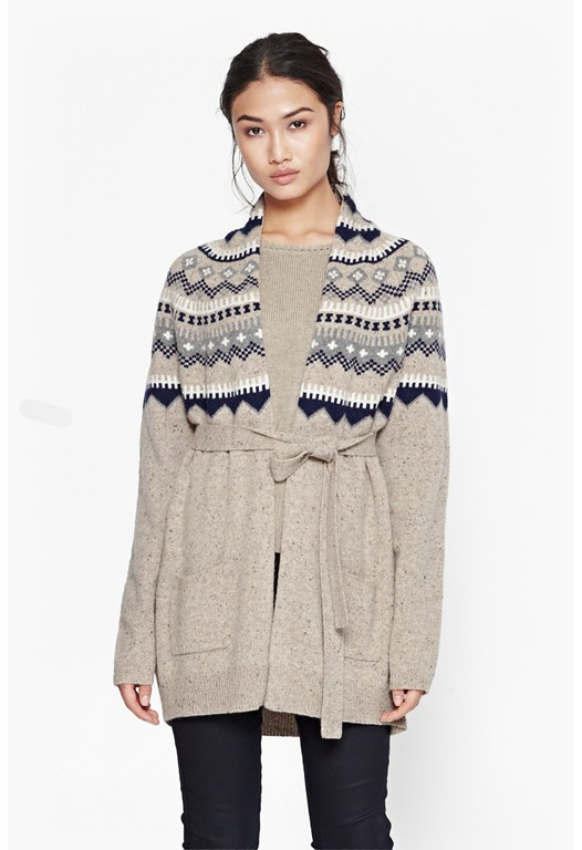 Fran Fair Isle Wool Cardigan