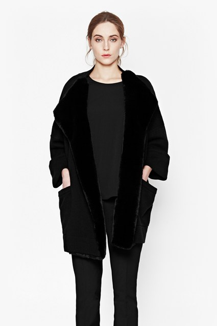 Whistler Oversized Faux Fur Cardigan