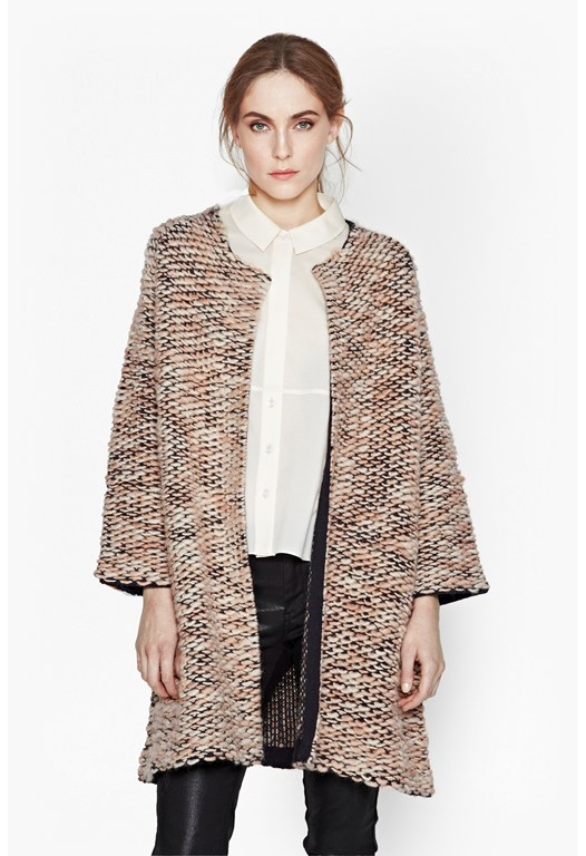 Olive Oversized Wool Cardigan