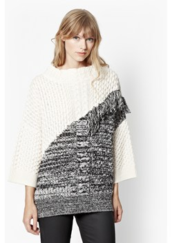 Fringed Cable Knit Oversized Jumper