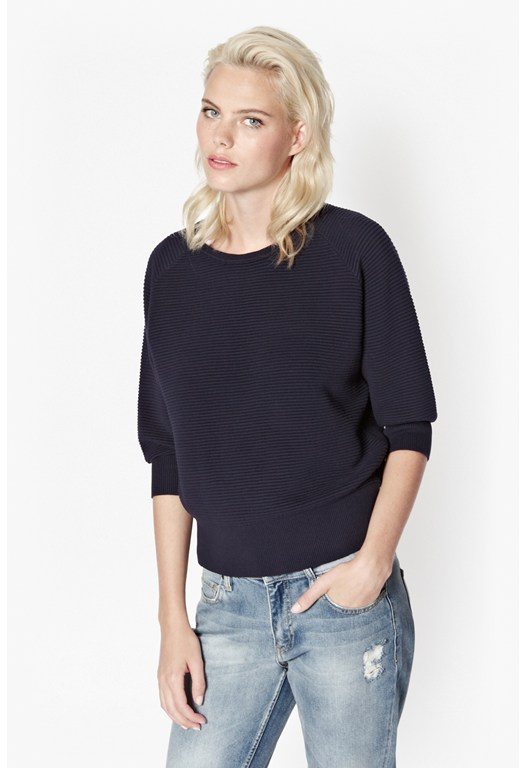 Mozart Knits Ribbed Jumper
