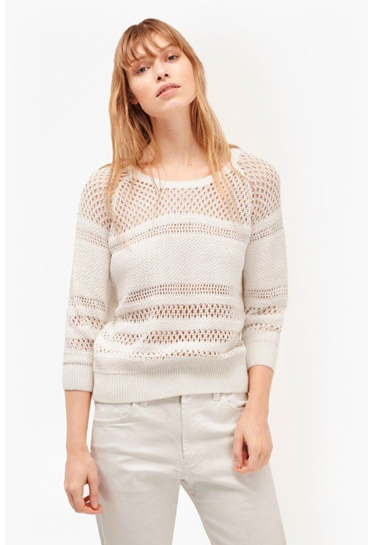 Romy Knits Crochet Detail Jumper