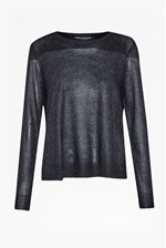 Looks Great With Adele Sheer Metallic Jumper