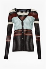 Looks Great With Chevron Knits Cardigan