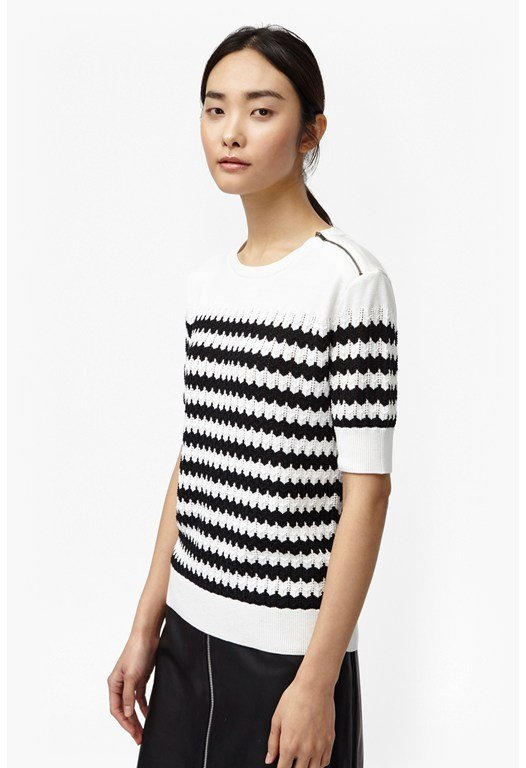 Zipped Chevron Jumper
