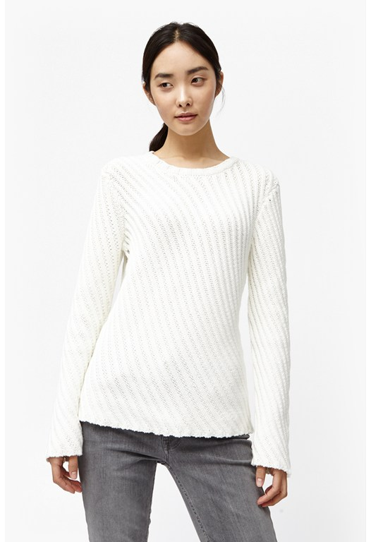 Diagonal Knits Jumper