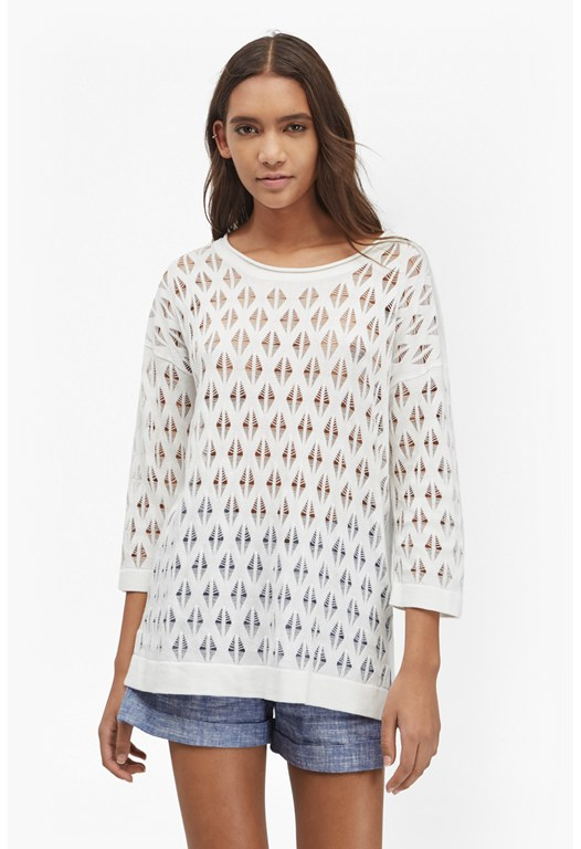 Lattice Ladder Pointelle Jumper