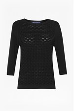 Looks Great With Audrey Textured Knitted Jumper
