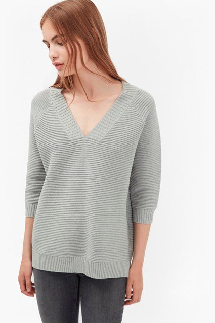 Mozart Ripple V Neck Jumper