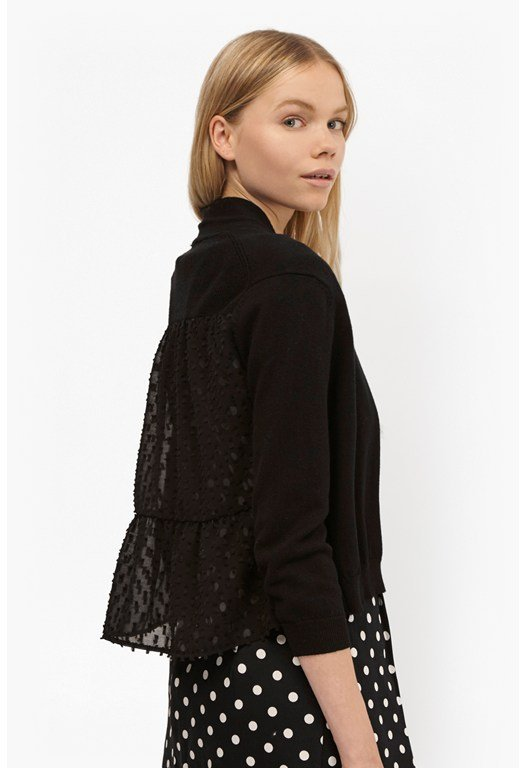 Bow Fringe Cropped Cardigan