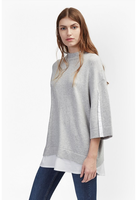 Vhari Mix Knits Shirt Jumper