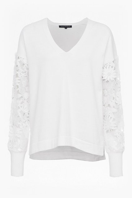 Manzoni 3D Floral Lace Sleeved Jumper