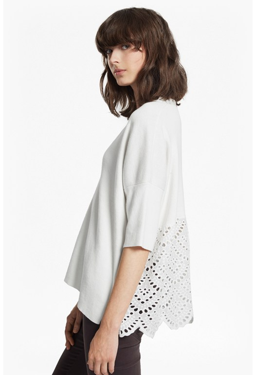 Bea Broderie Anglaise Oversized Jumper