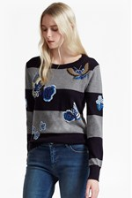 Looks Great With RSVP Argento Embroidered Patch Jumper