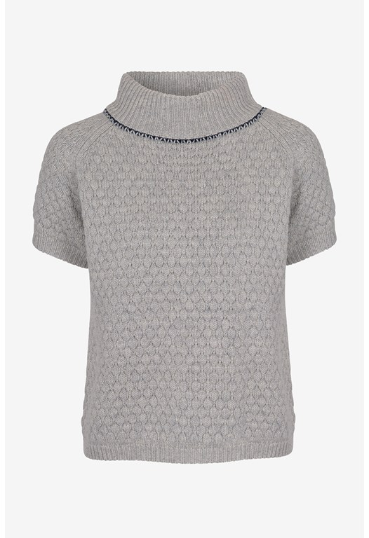Popcorn Collar Knits Jumper