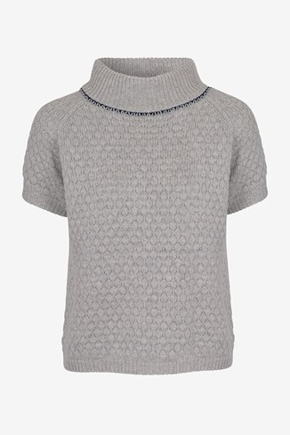 Popcorn Knitted Collar Jumper