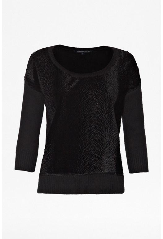 Bear Angora Textured Jumper