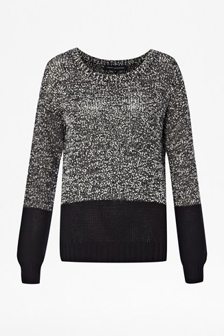 Slub Speckled Round Neck Jumper