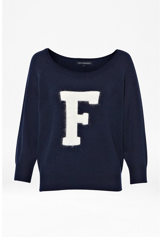 Fluffy F Knitted Jumper