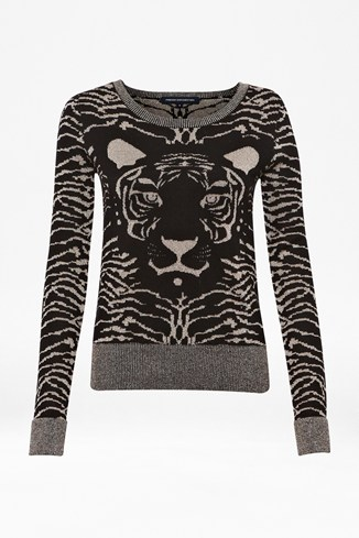 Snow Tiger Knitted Jumper