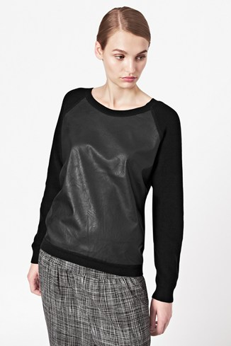 London Textured Front Jumper