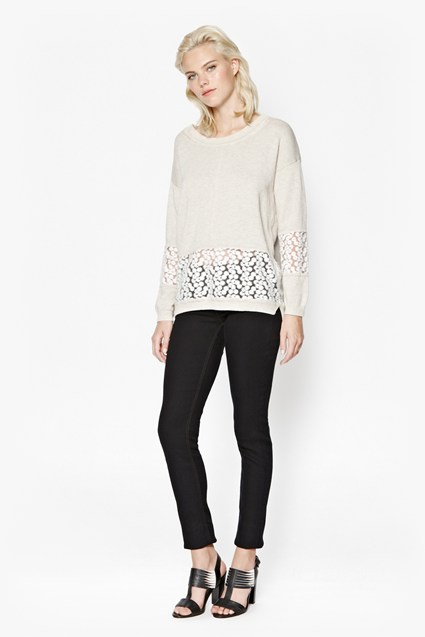 Laila Lace Cotton Jumper