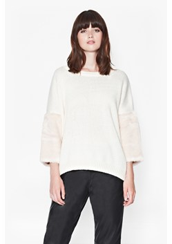 Opal Faux Fur Sleeve Jumper