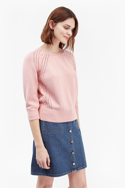 Moonlight Mozart Pointelle Stitch Jumper