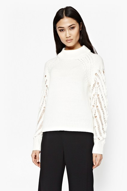 Kora Laddered Sleeve Jumper