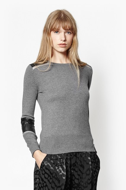 Taylor Faux Leather Jumper