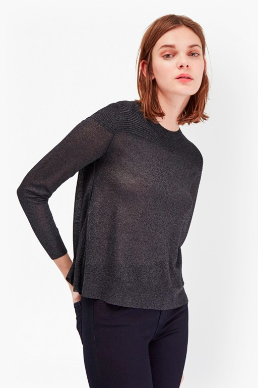 adele sheer metallic jumper