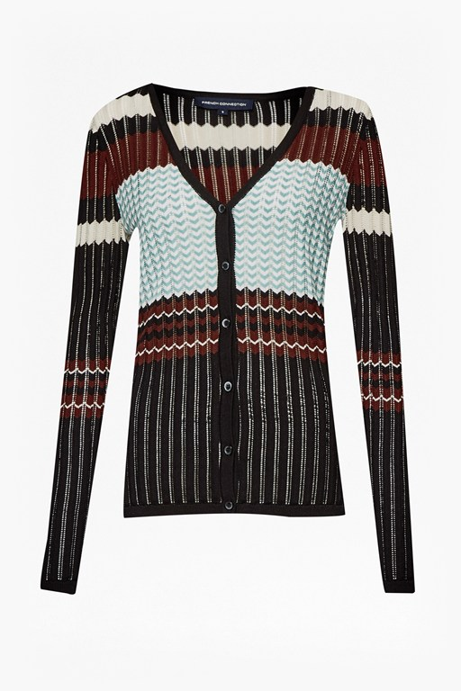 Complete the Look Chevron Knits Cardigan