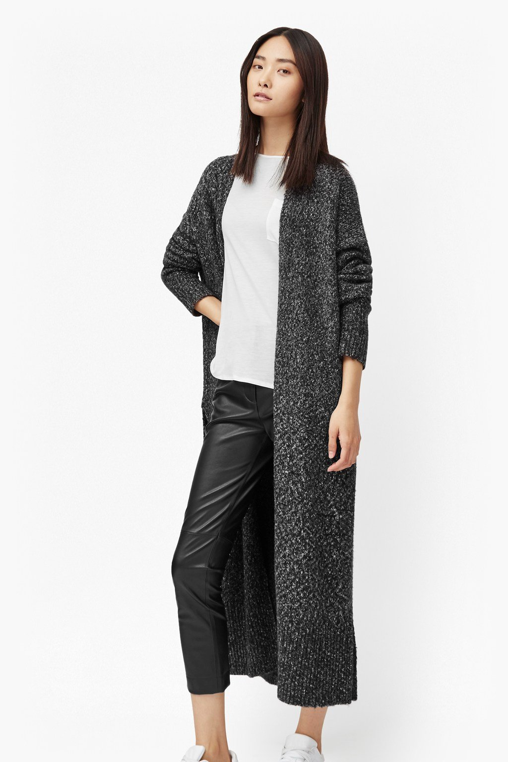 Flecked Flora Maxi Cardigan | Collections