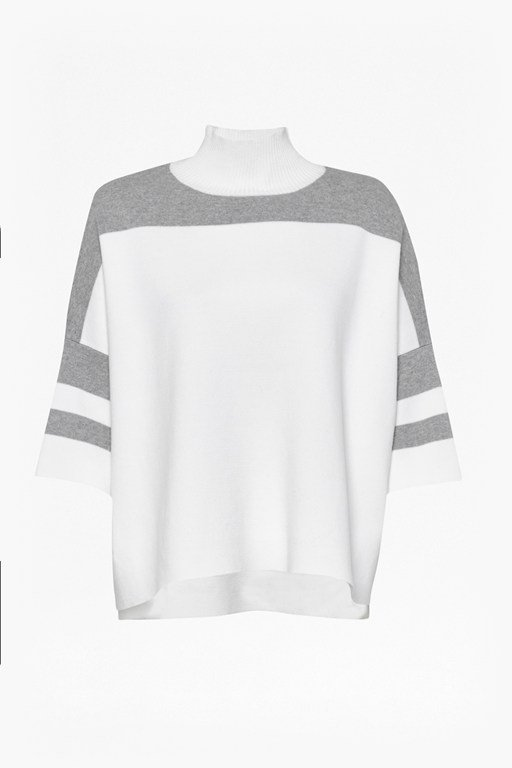 mozart oversized colour block jumper