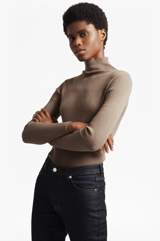 nicola knits high neck jumper