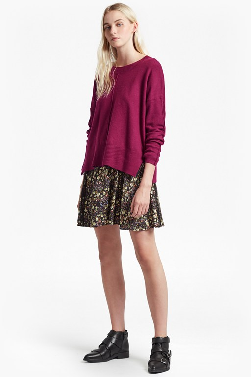 della vhari long sleeved crew neck jumper