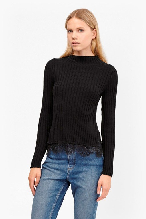 nicola knits ribbed jumper